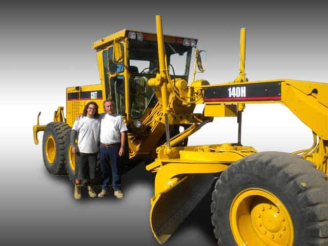 Heavy Equipment Painting : Fleet painting before and after body shop