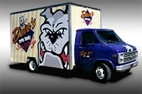 Daves Auto Body Painted Truck Lettering