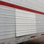 White Trailer Painted and Repaired