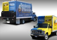 Benjamin Franklin and One Hour Photo Truck Wrap