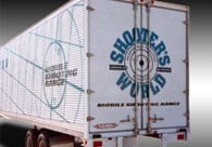 Shooters World Painted Truck Branding