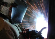Up Close Welding a Frame fabrication modification