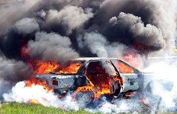 Car on fire, Car and Truck Fires
