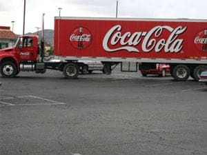 Distracted driving costs...Coca Cola Truck