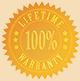 100% Lifetime Warranty