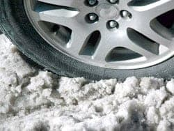 Tire in Snow